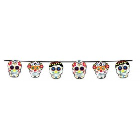 Day Of The Dead Garland Halloween Accessory
