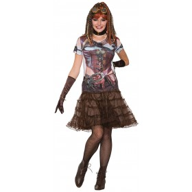 Ladies 3D Tee Shirt Steampunk Gal/Girl Fancy Dress Accessory