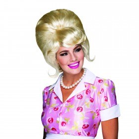 High Beehive Wig. Blonde (1960S Fancy Dress Wigs)