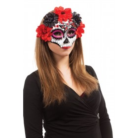 Ladies Mexican Day Of The Dead Darling Halloween Mask Glasses Frame