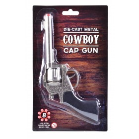 Metal Cowboy Gun Peacemaker (Cowboys/Native Americans Fancy Dress Guns)