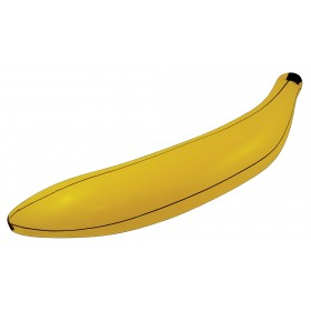 """Inflatable Banana 28"""" (Food Fancy Dress Inflatables)"""