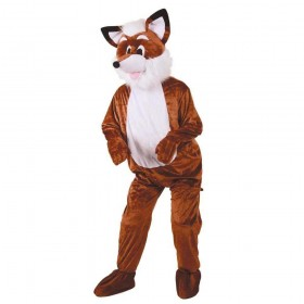 Adult Unisex Mascots - Fantastic Fox Animal Outfit - One Size (Brown)