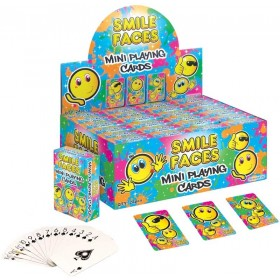 MINI PLAYING CARDS SMILEY FACES 1 DECK SUPPLIED