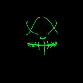 Neon Light Up Mask- GREEN Secure yours now!