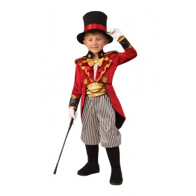 Boys Ringmaster Circus Showman Fancy Dress Costume