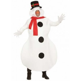 Adult One Piece (M/L) Winter Snowman Fancy Dress Costume