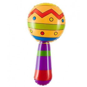 Inflatable Maracs 20cm With Jingle Bell Fancy Dress Accessory