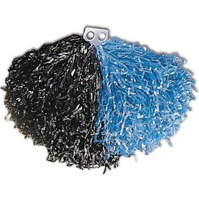 Bicolour Pom Pom - Black/Blue Fancy Dress