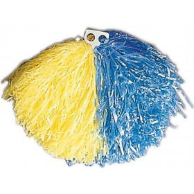 Bicolour Pom Pom - Yellow/Blue Fancy Dress