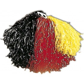 Tricolour Pom Pom - Yellow/Red/Black Fancy Dress