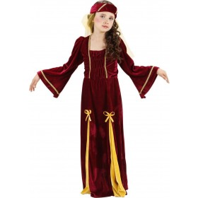 Girls Medieval Princess (Dress Headpiece) Medieval - (Red)