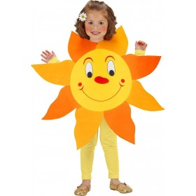 Girls Sun Tabard Sun Outfit - (Orange, Gold)