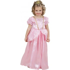 Girls Princess Dress - Pink Fairy Tales Outfit - (Pink)