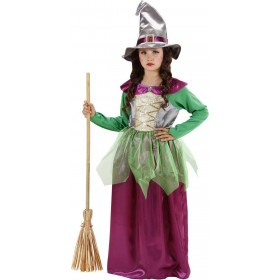 Girls Witch - Green/Purple (Dress Hat) Halloween