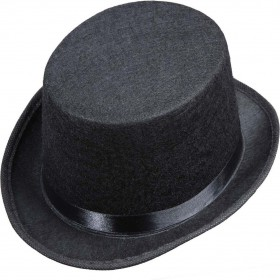 Unisex Top Hat Felt Child Size - Black Hats - (Black)