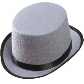 Unisex Top Hat Felt Child Size - Grey Hats - (Grey)