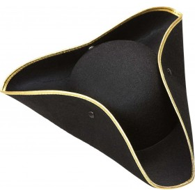 Boys Tricorn Felt - Black Hats - (Black)