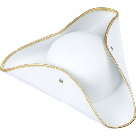 Boys Tricorn Felt - White Hats - (White)