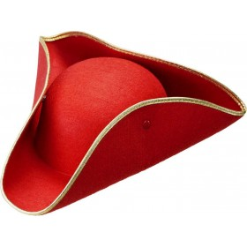 Boys Tricorn Felt - Red Hats - (Red)