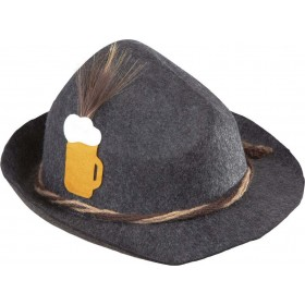 Mens Bavarian Hat Deluxe Felt Hats - (Black)