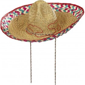 Mexican Sombrero 52Cm Hats - (Yellow)
