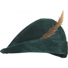 Prince Of Thieves Hat With Feather Hats - (Green)