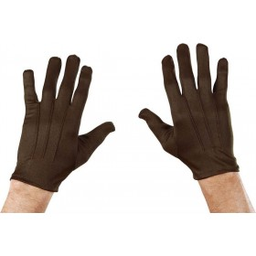 Mens Gloves Short Brown Gloves - (Brown)