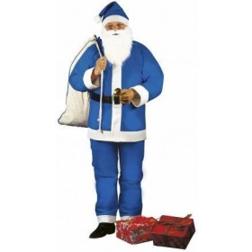 Adult Blue One Size Santa Claus Fancy Dress Costume