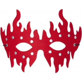 Adult Unisex Studded Eyemask - Red Eyemasks - (Red)