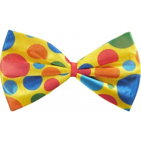 Mens Maxi Clown Bow Tie Accessories - (Multicolour)