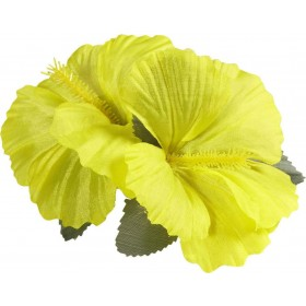 Ladies 2 Yellow Hibiscus Flowers Hair Clips Accessories - (Yellow)