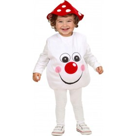 Girls Mushroom (104Cm) (Jumpsuit Headpiece) Food Outfit - Age 2-3 (Red)