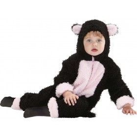 Toddler Fuzzy Cat Baby Animal Outfit - (Black, Pink)