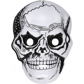 Mens Skull Mask Plastic Masks - (White)