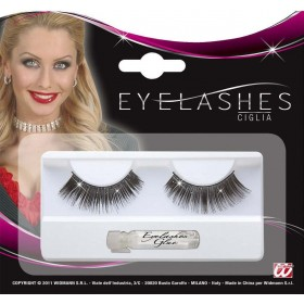 Eyelashes Black With Holographic Glitter Eyelashes - (Black)