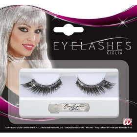 Eyelashes Black With Stardust Eyelashes - (Black)