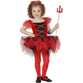Girls Ballerina Devil (Tutu Dress Horns) Ballerina