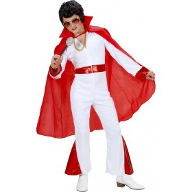 Mens Red Cape 100Cm Halloween Outfit - One Size (Red)