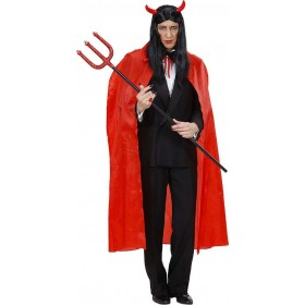 Mens Red Cape 130Cm Halloween Outfit - One Size (Red)