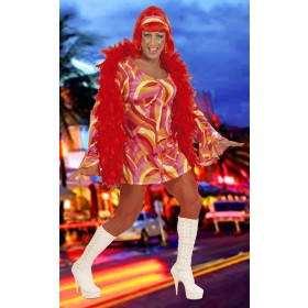Ladies 70S Chick Costume- Blue Hippy Outfit