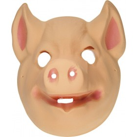 Adult Unisex Plastic Mask Child - Pig Masks - (Pink)