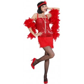 Ladies Red Flapper 1920'S Outfit - (Red)