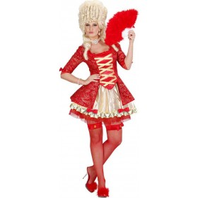 Ladies Red Baroque Queen Royal Outfit - (Red)