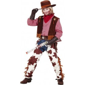 Boys Cowboy- Costume Cowboys/Native Americans Outfit - (Red, Brown)