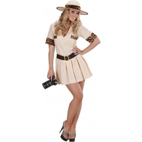 Ladies Safari Girl- (Dress Belt Hat) Safari Outfit - (Beige)