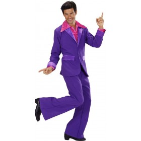 Mens Purple Party Suits- (Jacket Pants) Disco Outfit (Purple)