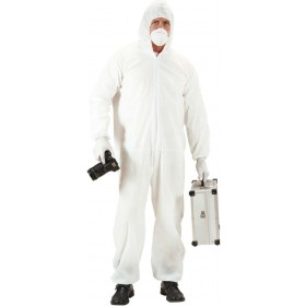 Mens Crime Scene Investigator- (Jumpsuit Mask Gloves)Crime Scene Cops/Robbers -