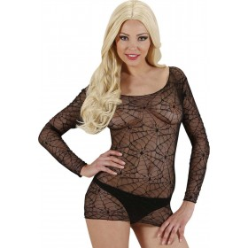 Ladies Black Spidermesh Shirts Outfit - Size 10-12 (Black)