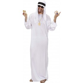 Mens Arab Sheik- (Tunic Headdress) Arab Outfit (White)